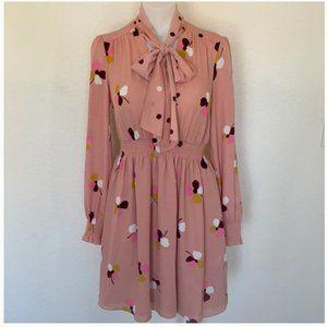 kate spade dusk buds print mini dress size xs nwot